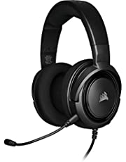 Corsair HS35 Stereo Gaming Headset (50 mm Neodymium luidsprekers, afneembare unidirectionele microfoon, Vederlicht design, voor PC, XBOXOne, PS4, Nintendo Switch en mobiele apparaten) Zwart