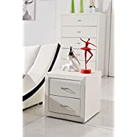 US Pride Furniture B8063-NS Contemporary Nightstand, White
