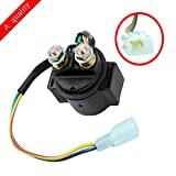 FLYPIG Starter Solenoid Relay for 4-stroke GY6 Engine 50cc 70cc 90cc 110cc 125cc 150cc 200cc 250cc ATV Dirt Bike Scooter Go Kart Dune Buggys Quad 4 Wheelers Pit Bike Moped Roketa SSR Taotao Sunl Coolster