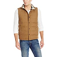UNIONBAY Men's Flannel Lined Canvas Vest
