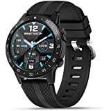 Anmino GPS Running Smart watch for Android iOS phone,All-Day heart rate and Activity Fitness tracker,Pedometer,Calorie Counter,Sleep Tracker,Bluetooth smartwatch with GPS,Barometer,Compass,Touchscreen
