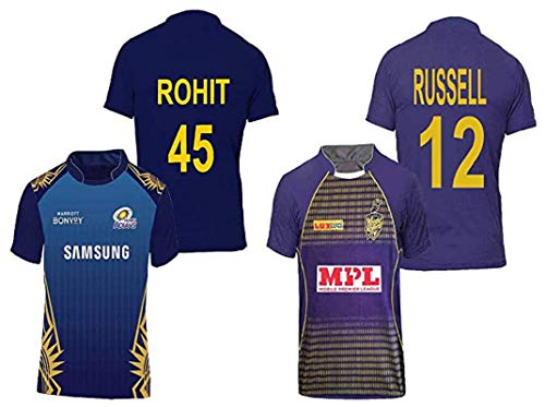 IPL Jersey Cheap price & Best Quality Mumbai indian Jersey 2021 ipl and Delhi Capitals Jersey for Kids & Men's Pack of 2