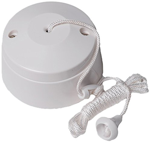 Bulk Hardware BH02684 2-Way Ceiling Switch Bathroom Pull Cord, Round 5 Amp -...