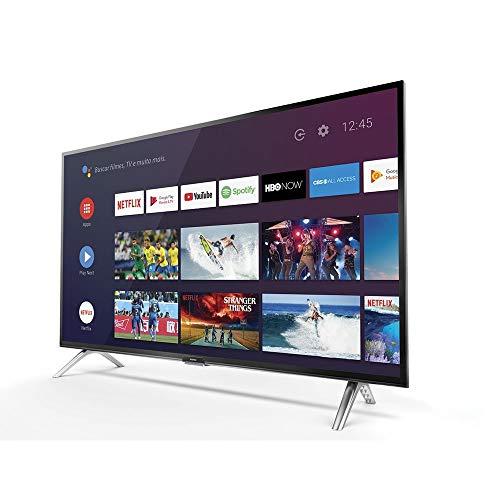 """Smart TV LED 32"""" HD Android SEMP 32S5300, Conversor Digital, Wi-Fi, Bluetooth, 1 USB, 2 HDMI, Comando de Voz e Google Assistant"""