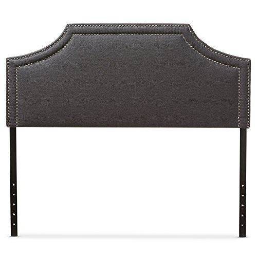Modern Upholstered Headboard (Baxton Studio Guifford Modern & Contemporary Fabric Upholstered Headboard, Queen, Dark Grey)