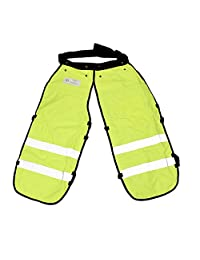 Felled Safety Chainsaw Chaps – Logging Tools Chainsaw Safety Gear with Pocket, Chainsaw Apron Chaps in Green, 37in