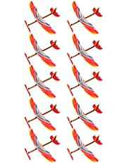 TOYANDONA 10 st gummiband individuellt inslagna flygplansmodell biplan montering flygplan leksaker för barn