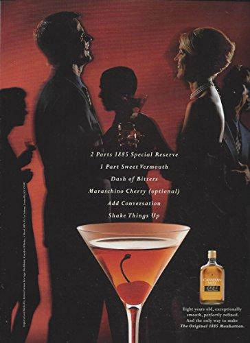 MAGAZINE ADVERTISEMENT For 1997 Canadian Mist Alcohol Manhattan Party Scene