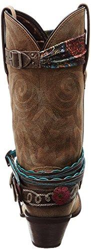 Stivali Durango Accessorize Dcrd146 Stivali In Pelle Blu Scuro Per Stivali Western Da Donna Blu Marrone