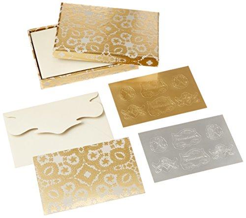 Oro Y Plata Correspondence Diecut Boxed Notecards