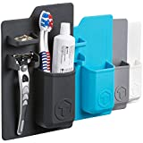 Tooletries silicone waterproof toothbrush and razor Holder - The Harvey (Charcoal)