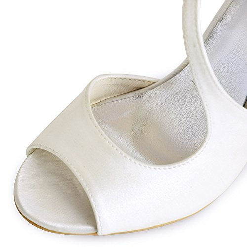 spillo peep HP1505 ElegantPark da sposa da Sandali col toe tacco scarpe Sation sposa Avorio a 0HgfwHq8