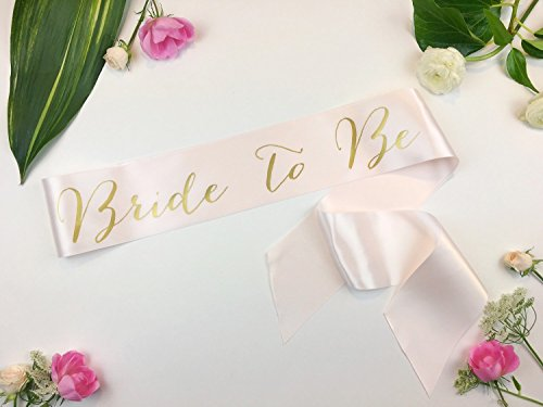 Bride to Be Sash Bridal Bachelorette Sash by Shades of Pink Boutique
