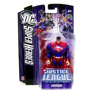 (DC Super Heroes Justice League Unlimited Action Figure Superman with Red Steel Bar [Purple Card])
