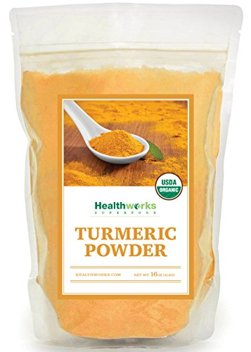 Healthworks Turmeric Root Powder Curcumin Organic 1lb packaging may vary