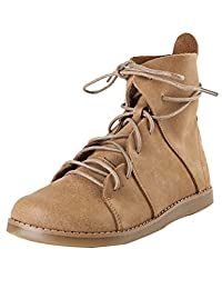 Zoulee Women's Handmade Cowhide Flat Boots Martin Boots Ankle Boots