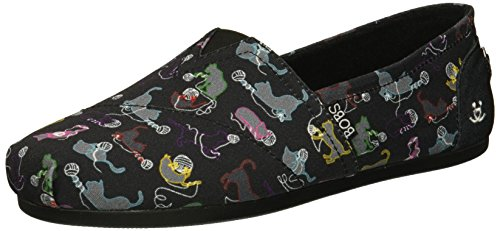BOBS Ball Plush O Skechers Fun Ballet Flat Bkmt Women's qdtxxEwPnS