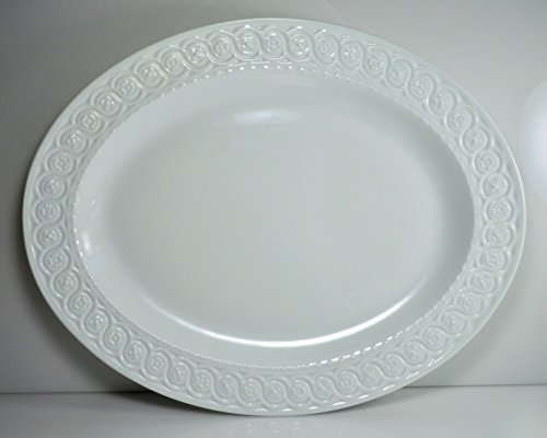 Bernardaud Platter - Bernardaud Louvre Oval Serving Platter 13 1/8