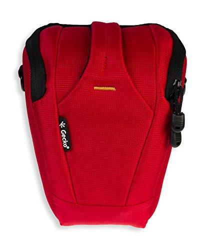 GeckoCovers SLR Kameratasche / Colttasche in der Farbe rot und Größe large für z.B. Panasonic Lumix DMC GH2 GH3 G6 G3 G2 - Canon 1200D 1100D 1000D - Nikon D600 D610 D5100