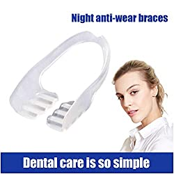 YUI Adult Night Anti Grinding Teeth Guard Mouth Guard,occlusal Jaw Pad,Prevent Sleep Grit One's Teeth(5 Sets)