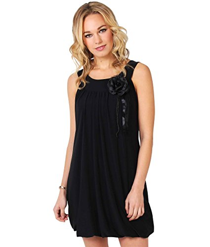 KRISP Mini Dress (Size UK 20/US 16) (3565-BLK-20) - Bubble Hem Mini Dresses