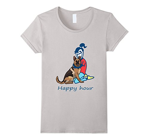 Women's  German Shepherd Happy Hour T-shirt For Women Tee...