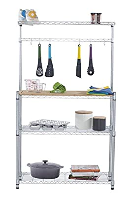 Trinity EcoStorage Bamboo Bakers Rack