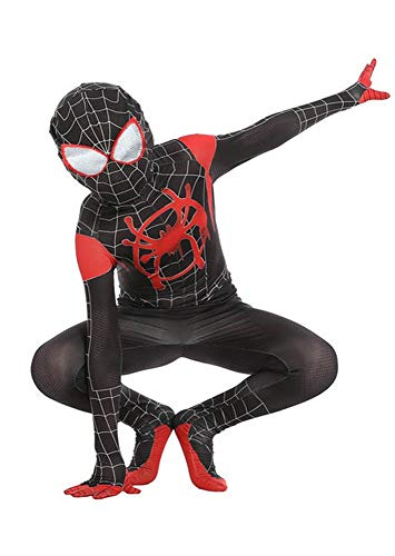 200 - Kids/Adults Spider-Man: Into The Spider-Verse Miles Morales Costumes (2) Kids-S Black -