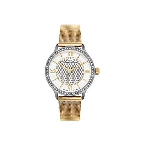 Reloj mujer Yonger & Bresson blanca y dorada – DCC 096s-1fm