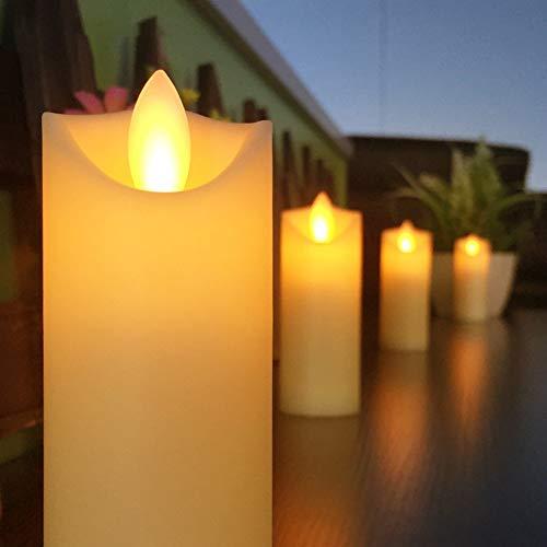 Leoie 6Pcs/Set LED Flameless Candles Light Pillar Flicking Night Light for Home Party Wedding Decor