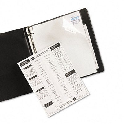 Worksaver Big Tab Extrawide Paper Dividers in White [Set of 3] Tab Color: Clear, Tab Style: ()