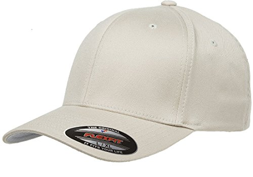 Flexfit 6277 Wooly Combed Twill Cap - Large/XLarge (Stone)