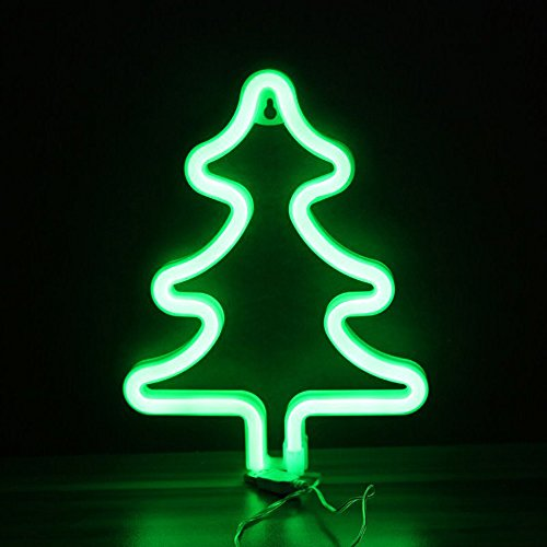 - Xmas Tree Neon Signs Decorative LED Light Wall Decor for Kids Room Christmas Birthday Party Home Decoration Wedding Event Banquet Decor Night Light
