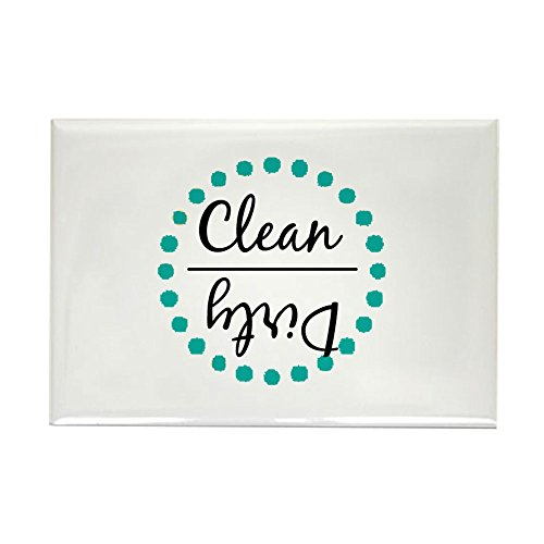 (CafePress Teal Green Clean Dirty Dishwasher Magnet Rectangle Magnet, 2
