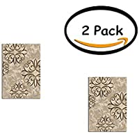 PACK OF 2 - Better Homes and Gardens Iron Fleur Area Rug or Runner, Size:26x38, Actual Color: Beige