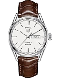 Tag Heuer Men's Carrera 41mm Brown Alligator Leather Band Steel Case Automatic Watch T-WAR201B.FC6291