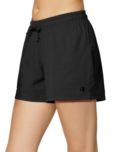 (Champion Women's Jersey Short, Black,)