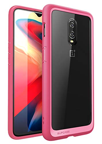 SupCase [Unicorn Beetle Style Series Case for OnePlus 6T, Premium Hybrid Protective Clear Case for OnePlus 6T 2018 Release - Retail Package (Pink)