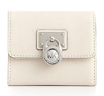 22e332ac7f6f0e Michael Kors Hamilton Small Flap Wallet in Vanilla/Silver: Amazon.co.uk:  Luggage
