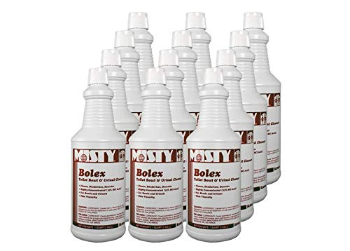 Misty Bolex Hydrochloric Acid Toilet Bowl Cleaner 32 Oz 1038799 (Case of 12) Great for Urinals