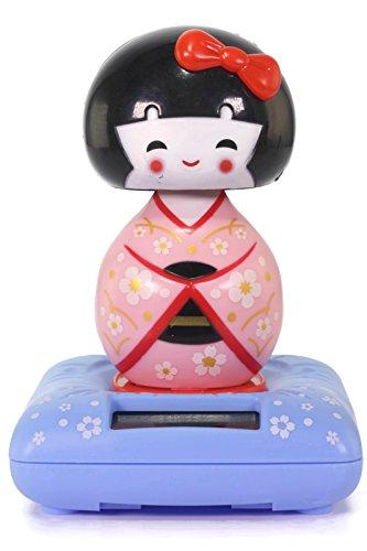 Pink Solar Kokeshi Doll Wobbler