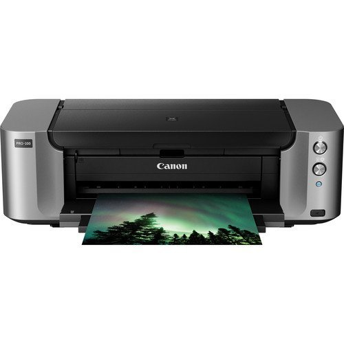 - Canon PIXMA PRO-100 Color Professional Inkjet Photo Printer + Canon Luster Photo Paper, 13
