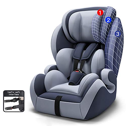 RGLZY All-in-One Car Seat, Kids' Rear-Facing Seat, Tranzitions 3 in 1 Harness Booster Seat, Angled for Comfort, Suitable for Most Child,Black