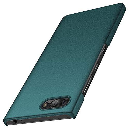BlackBerry Key2 LE Case, Almiao [Ultra-Thin] Minimalist Slim Protective Phone Case Back Cover for BlackBerry Key2 LE (Gravel Green)