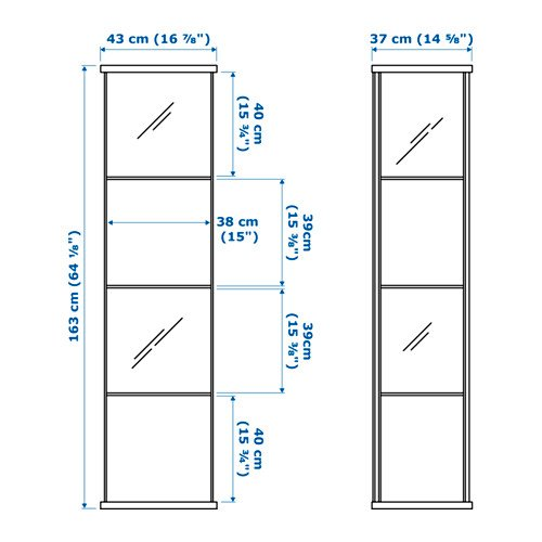 Ikea Detolf Glass Curio Display Cabinet White Buy Online