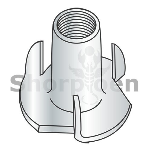 3 Prong Tee Nut Zinc 4-40 x 1/4 (Box of 5000) weight5.75Lbs by Korpek.com