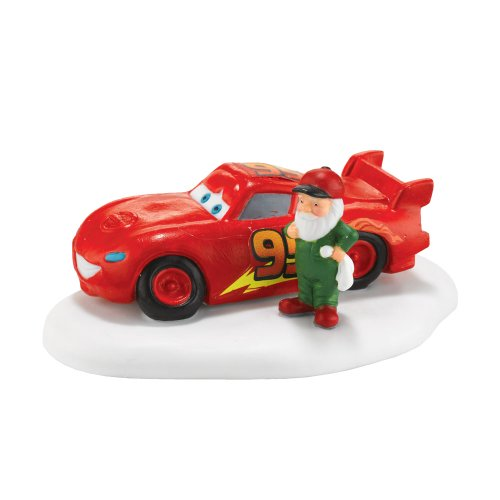 Department 56 North Pole Village Cars Lightning McQueen Ready to Race Accesssory Figurine by Department 56