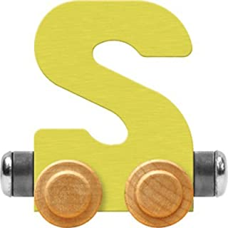 product image for Maple Landmark NameTrain Pastel Letter Car S - Made in USA (Yellow)