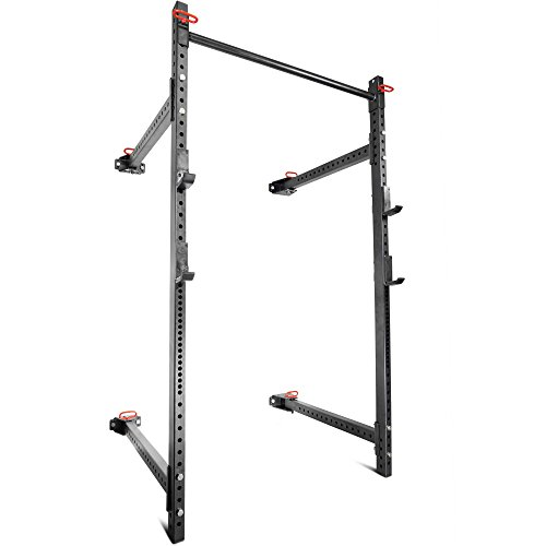 Titan Fitness T-3 Series Fold Back Power Rack 41'' Deep Wall Mounted Laser Cut by Titan Fitness