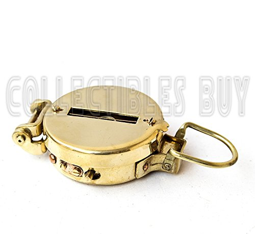 Vintage Old Style Military Compass Nautical Pocket Shiny Brass Navigational Instrument